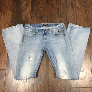 Express Rerock size 8long 8L jeans EUC